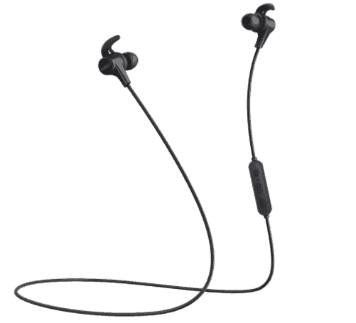 AUKEY Wireless Headphones, 3 EQ Sound Modes, aptX and Sweat-Resistant Nano Coating, Secure Fit Bluetooth Sports Earbuds, 8-Hour Battery Life