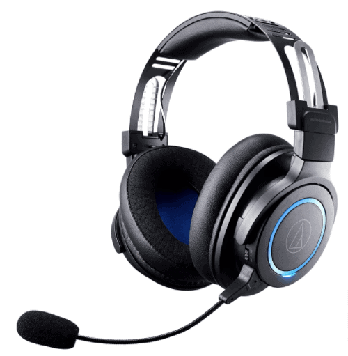 Audio-Technica ATH-G1WL Premium Wireless Gaming Headset for Laptops, PCs, & Macs, 2.4GHz, 7.1 Surround Sound Mode, USB Type-A, Black, Adjustable