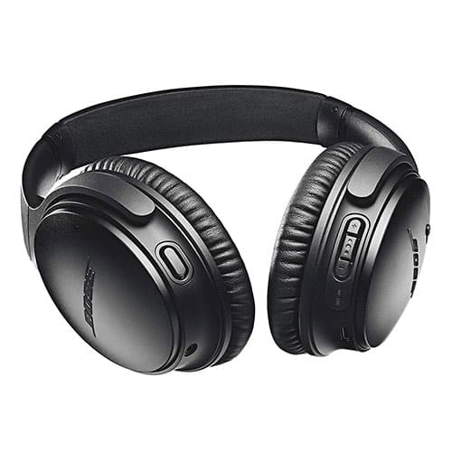 Bose QuietComfort 35 II Wireless Bluetooth Headphones, Noise-Cancelling, with Alexa voice control, enabled with Bose AR - Black