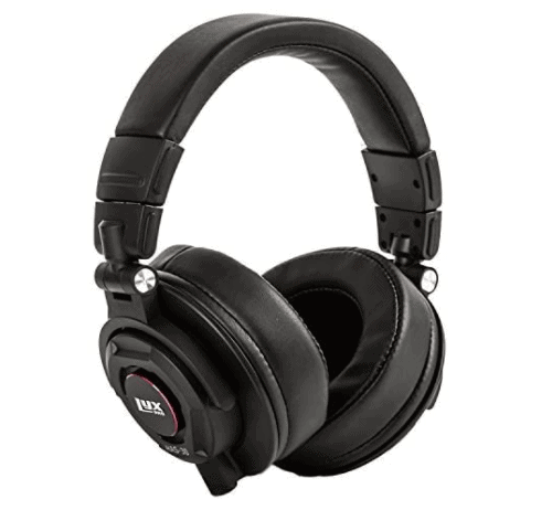 LyxPro HAS-30 Closed Back Over-Ear Professional Recording Headphones for Studio Monitoring, DJ and Home Entertainment,Black