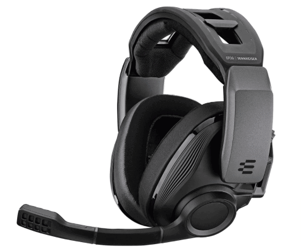EPOS I SENNHEISER GSP 670 Wireless Gaming Headset, Low-Latency Bluetooth, 7.1 Surround Sound, Noise-Cancelling Mic, Flip-to-Mute, Audio Presets, For Windows PC, PS4, and Smartphones , Black