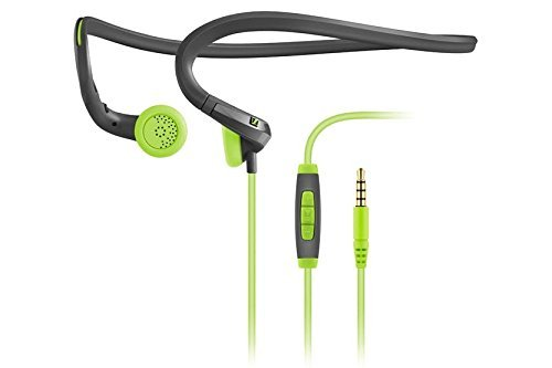 Sennheiser PMX 684i Fitness Workout Sports Running and Cycling Earbud/in ear Ultralight Compatible with Apple/iPhone/iPad Neckband Headphone Grey/Green color Headset sweat and water resistant