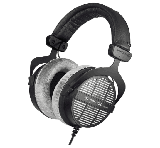 beyerdynamic DT 990 PRO Over-Ear Studio Monitor Headphones - Open-Back Stereo Construction, Wired (80 Ohm, Grey)