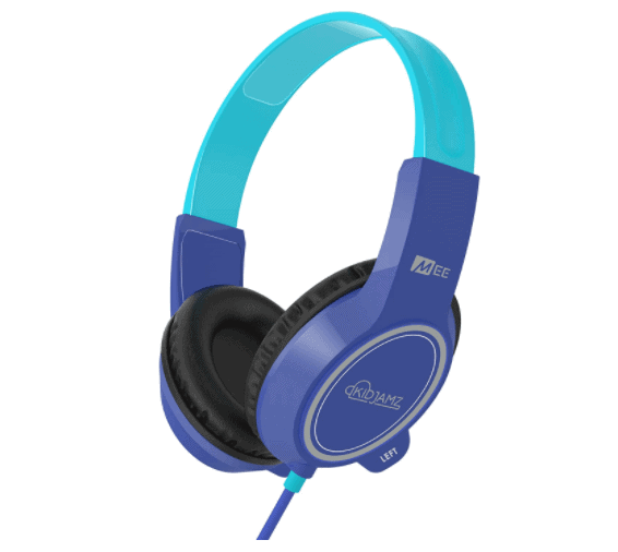MEE audio KidJamz 3 Child Safe Headphones for Kids with Volume-Limiting Technology and Built-in Microphone and Remote for Video Chatting and Phone Calls (Latest Version) (Blue) (HP-KJ35-BL-MEE)