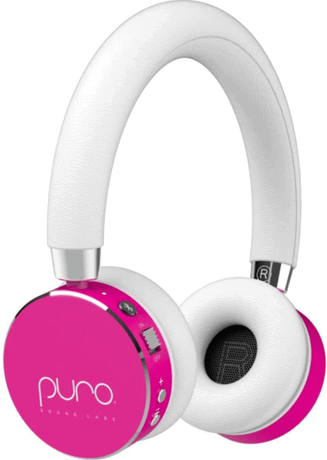 Puro Sound Labs BT2200 On-Ear Headphones Lightweight Portable Kids Earphones with Safe Wireless, Volume Limiting, Bluetooth and Noise Isolation for Smartphones/PC/Tablet - BT2200 White
